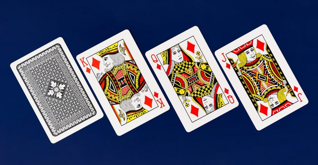 cards-on-blue-background